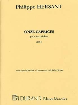 11 Caprices Philippe Hersant Partition Violon - laflutedepan
