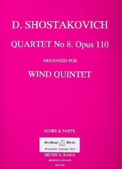 Quartet n° 8 op. 110 arr. for Wind Quintet - Score + Parts laflutedepan