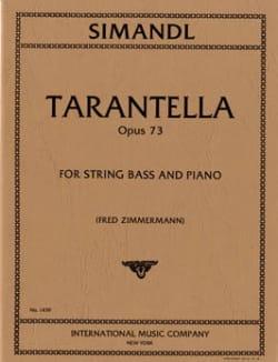 Tarantella op. 73 Franz Simandl Partition Contrebasse - laflutedepan