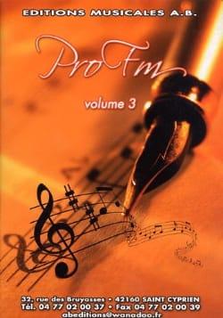 Pro FM Volume 3 Partition Solfèges - laflutedepan