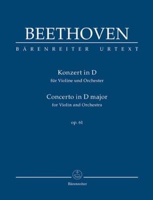 Concerto en Ré Majeur Pour Violon et Orchestre Op. 61 laflutedepan