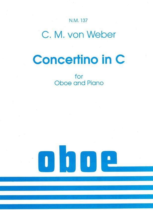 Concertino in C -Oboe piano - Carl Maria von Weber - laflutedepan.com