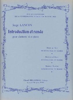Introduction et Rondo Serge Lancen Partition Clarinette - laflutedepan