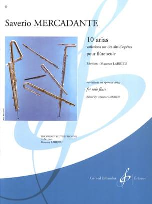 10 Arias - Flûte solo Saverio Mercadante Partition laflutedepan