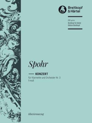 Concerto pour Clarinette n° 3 SPOHR Partition laflutedepan