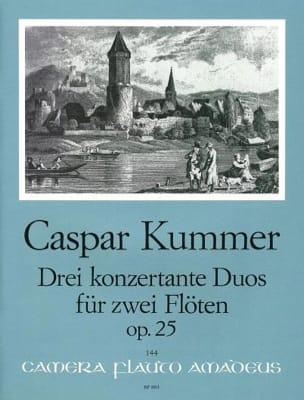 3 Konzertante Duos op. 25 - 2 Flöten Gaspard Kummer laflutedepan