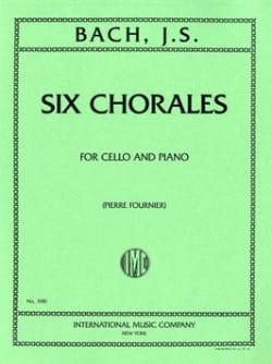 6 Chorales BACH Partition Violoncelle - laflutedepan