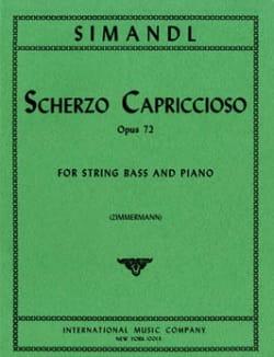 Scherzo Capriccioso op. 72 Franz Simandl Partition laflutedepan