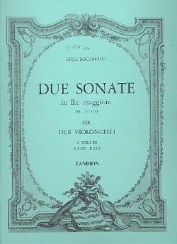 2 Sonates en Ré Majeur G571-572 pour 2 violoncelles laflutedepan