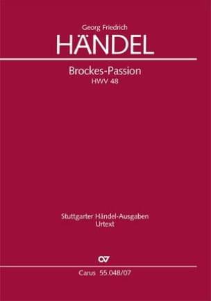 Brockes Passion Hwv 48 - HAENDEL - Partition - laflutedepan.com