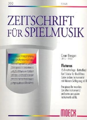 Fluturas Schmetterlinge - Cesar Bresgen - Partition - laflutedepan.com