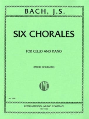 6 Chorales - BACH - Partition - Violoncelle - laflutedepan.com