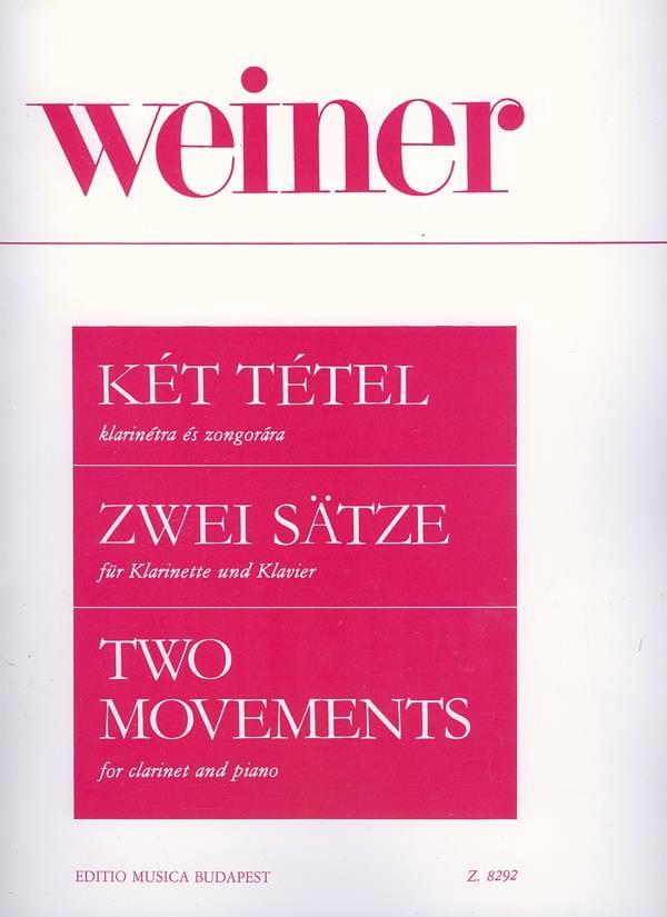 Two Movements - Clarinette et Piano - Leo Weiner - laflutedepan.com