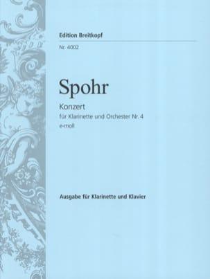Concerto Clarinette n° 4 en mi mineur SPOHR Partition laflutedepan