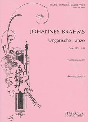 Ungarische Tänze, Heft 1 n° 1 - 5 BRAHMS Partition laflutedepan