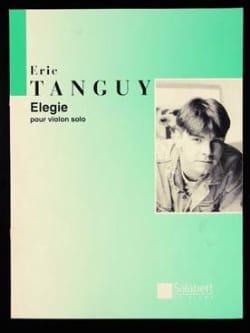 Elégie Eric Tanguy Partition Violon - laflutedepan