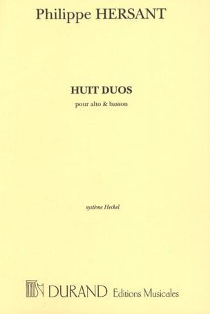 8 Duos - Alto et Basson Philippe Hersant Partition Duos - laflutedepan
