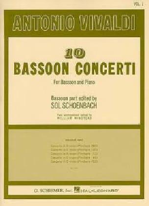 10 Bassoon Concerti - Volume 1 VIVALDI Partition Basson - laflutedepan