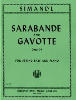 Sarabande et Gavotte op. 74 Franz Simandl Partition laflutedepan