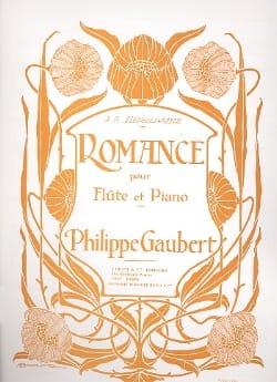 Romance Philippe Gaubert Partition Flûte traversière - laflutedepan