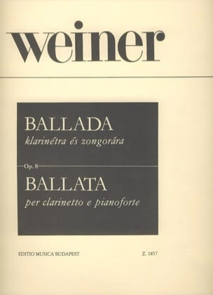 Ballada Leo Weiner Partition Clarinette - laflutedepan