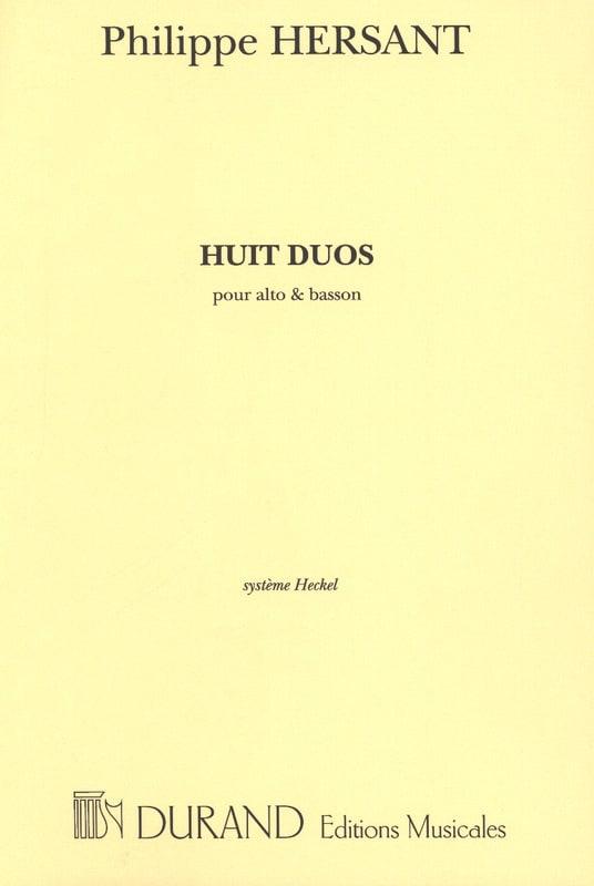 8 Duos - Alto et Basson - Philippe Hersant - laflutedepan.com