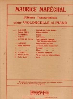 Interlude de Pepita Jimenez - Violoncelle piano - laflutedepan.com