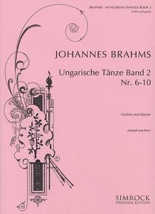 Ungarische Tänze, Heft 2 n° 6 - 10 BRAHMS Partition laflutedepan