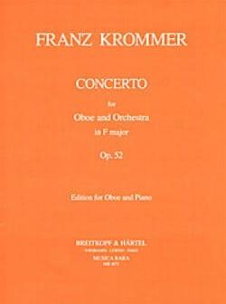 Concerto in F major op. 52 - Oboe piano KROMMER Partition laflutedepan