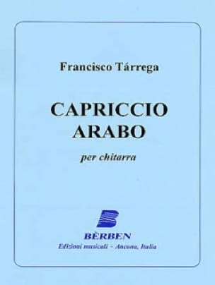 Capriccio Arabo - Guitare - TARREGA - Partition - laflutedepan.com