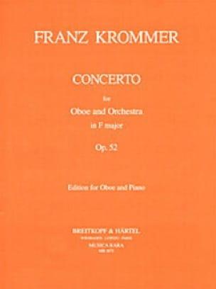 Concerto in F major op. 52 - Oboe piano - KROMMER - laflutedepan.com