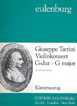 Violinkonzert G-Dur - D. 80 TARTINI Partition Violon - laflutedepan