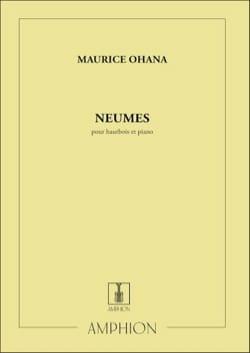 Neumes Maurice Ohana Partition Hautbois - laflutedepan
