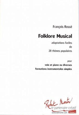 Folklore musical François Rossé Partition Solfèges - laflutedepan