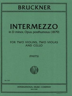 Intermezzo op. posth. -Parts - BRUCKNER - laflutedepan.com