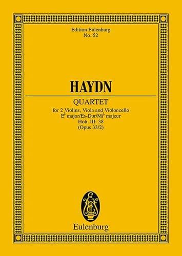 Streich-Quartett Es-Dur op. 33 n° 2 - HAYDN - laflutedepan.com