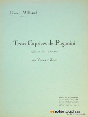 3 Caprices de Paganini - MILHAUD - Partition - laflutedepan.com