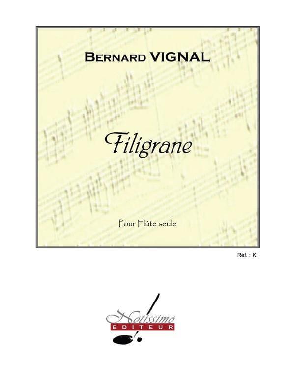 Filigrane - Bernard Vignal - Partition - laflutedepan.com
