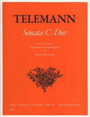 Sonata C-Dur - TELEMANN - Partition - Guitare - laflutedepan.com