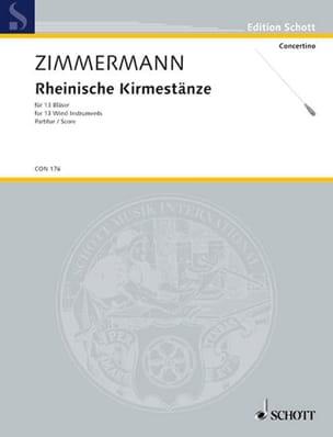 Rheinische Kirmestänze - Partitur Bernd Alois Zimmermann laflutedepan