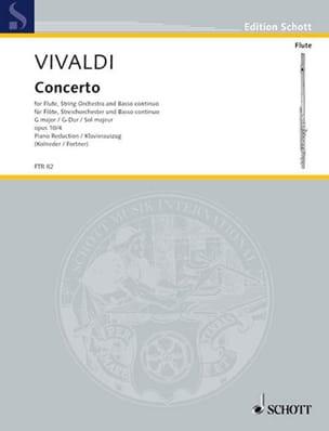 Concerto G-Dur op. 10 n° 4 - Flöte Klavier VIVALDI laflutedepan