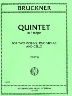 Quintet in F major -Parts BRUCKNER Partition laflutedepan