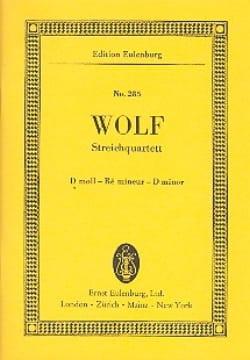 Streich-Quartett D-Moll Hugo Wolf Partition laflutedepan