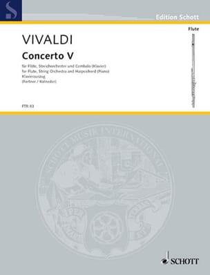 Concerto F-Dur Op. 10 N° 5 VIVALDI Partition laflutedepan