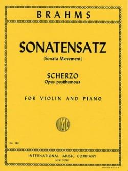 Sonatensatz, Scherzo op. posth. BRAHMS Partition Violon - laflutedepan