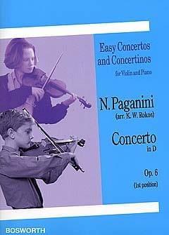 Concerto in D op. 6 PAGANINI Partition Violon - laflutedepan