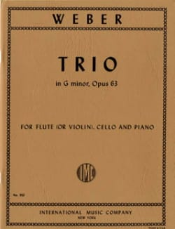 Trio en Sol Mineur Opus 63 Carl Maria von Weber Partition laflutedepan