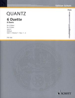 6 Duette op. 2 - Heft 1 Nr. 1-3 - 2 Flöten QUANTZ laflutedepan