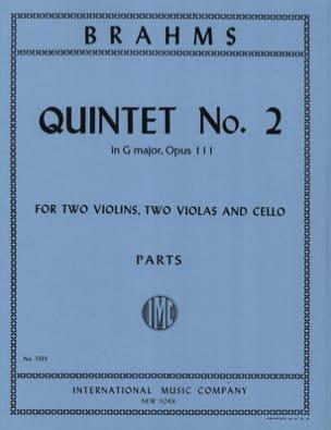 Quintet n° 2 in G major op. 111 -Parts BRAHMS Partition laflutedepan