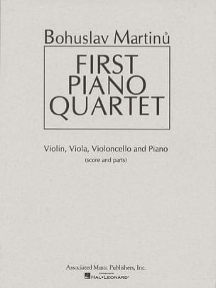 First Piano quartet -Score + Parts - MARTINU - laflutedepan.com